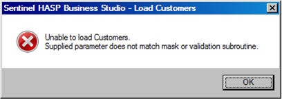 Hasp-business-studio-cust-error
